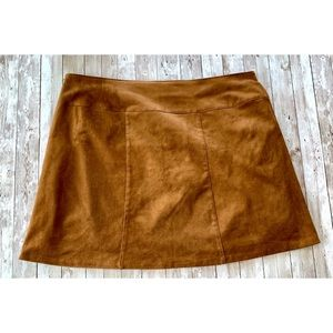 Cato Skirts - Cato faux leather mini skirt braided detail